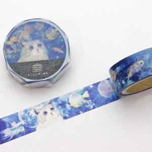 【とことこサーカス】マスキングテープ「kyou wa donna hi?-お魚さんはじめまして-」【ST-MT-002】