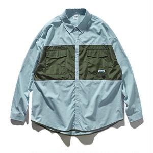 【MEN'S】アウトドア ストライプ ロングスリーブシャツ