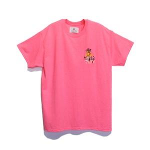 KUNCHI TEE  - safety pink <KOKKODESHO>