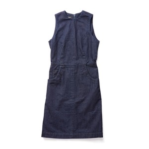 SINME NO SLEEVE ONE PIECE INDIGO