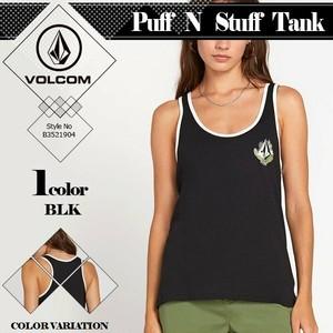 B3521904 レディース 女子 人気 ブランド タンクトップ おしゃれ フィットネス ヨガ M 黒 VOLCOM Puff N Stuff Tank