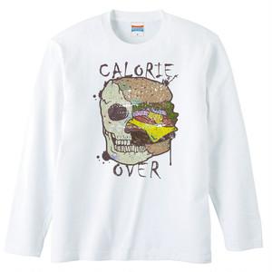 [ロングスリーブTシャツ] Skull Hamburger