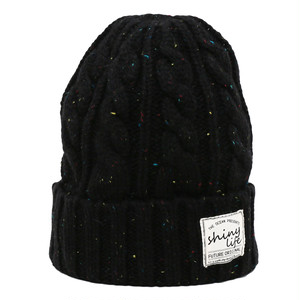 NEP CABLE KNIT CAP - BLACK