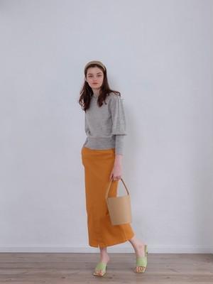 volume sleeve knit(light gray)