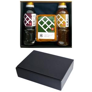 贈答セット【品番:P2-M1】特撰醤油と特撰味噌の3点セット(だし醤油、ごま醤油、米味噌)