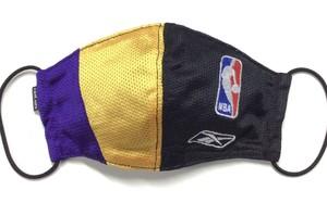 【デザイナーズマスク 吸水速乾COOLMAX使用 日本製】NBA LAKERS SPORTS MIX MASK CTMR 1130015