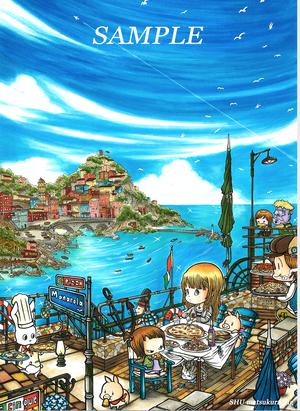 SHU matsukura作品 manarola A1サイズポスター(フレームなし) 送料別対象商品【着払い】