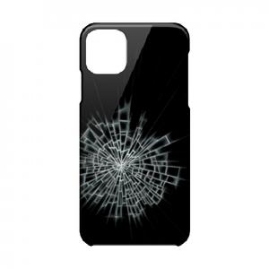 【iPhone11ProMax対応】ガラスひび割れハードケース#割れてる!デザイン
