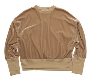 MY__ / VELOUR LACE-UP PULLOVER[BEIGE]