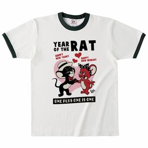 YEAR OF THE RAT リンガーTシャツ グリーン
