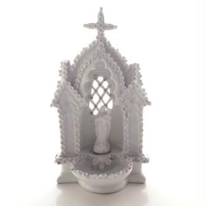 聖母子像の聖水盤