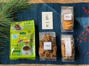 \森の贈りもの/ドリップバッグ有機コーヒーと自家製焼菓子セット