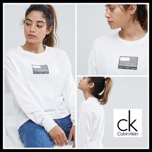 【予約販売】Calvin Klein Jeans カルバンクラインジーンズ Flag Logo ロンTTOPS
