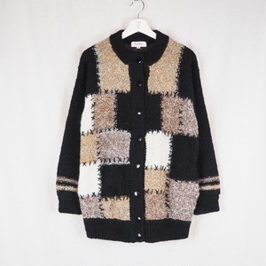 Patchwork Wool Knit Cardigan