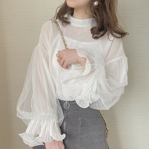 tulle sleeve tops [A-5] ※即納品 ラスト1点!