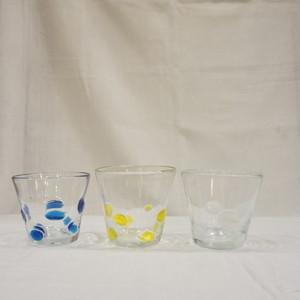 リサイクルガラス 水玉タンブラー 3色