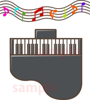 グランドピアノのイラスト素材