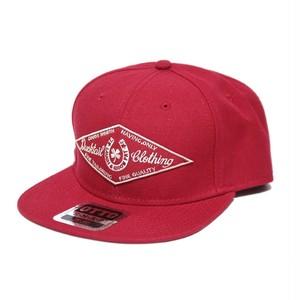 "DUCKTAIL CLOTHING SNAPBACK CAP ""HORSESHOE"" RED"