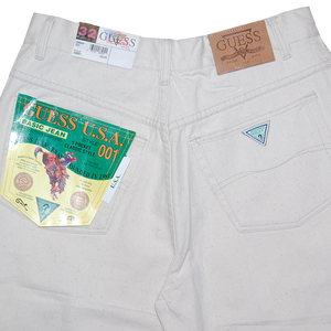 """Guess"" Vintage White Denim Deadstock 32"
