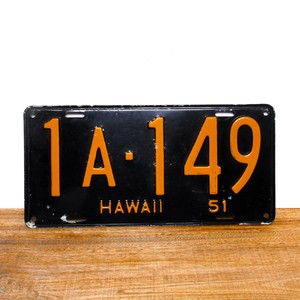 Hawaii license plates / 1951 / 1A-146