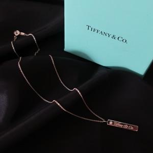 Tiffany Diamond Bar Necklace