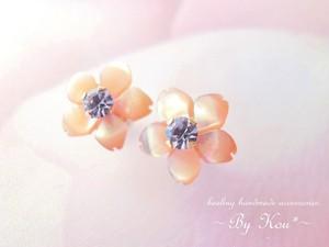 <2way♪&2色展開♪>✿桜✿V.アレキサンドライトピアス。P〈受注制作〉