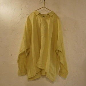 ichi Antiquite's ソリッドカラーリネンシャツ レモン
