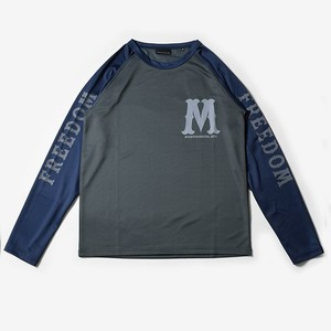 MMA Freedom Baseball Long Sleeve Tee (Gray_Navy)