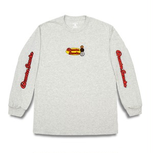 QUARTERSNACKS / MIDDLE SCHOOL LONGSLEEVE TEE -ASH-