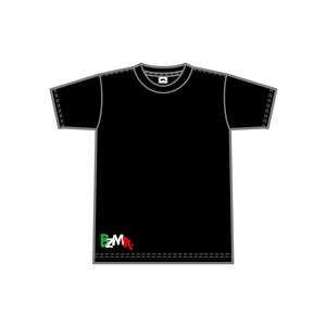 BZMR [Bottom print color tee] Black.