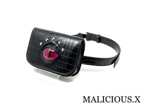 cat eye waist bag / magenta