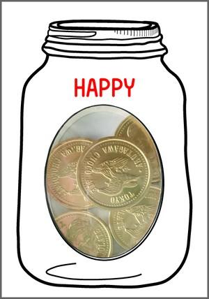 GREETING SWEETS コインチョコレート 選べるメッセージ
