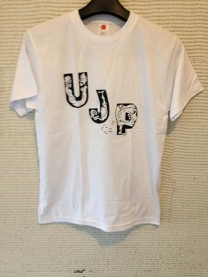 UJP ロゴティーシャツ white