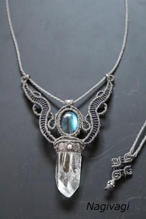 Crystal Labradorite necklace