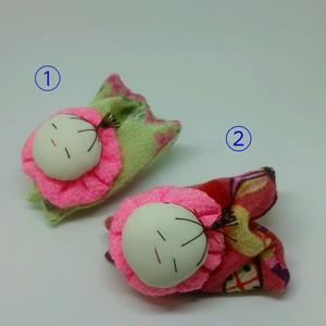 No.021 つかまり赤ちゃん グリーン ピンク
