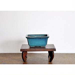 【 盆栽鉢 (m) - 浅葱色 - 】植木鉢 / vintage / bonsai / japan