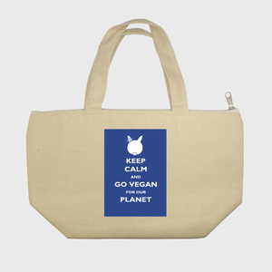 Go Vegan for our Planet - Blue - Lunch Tote