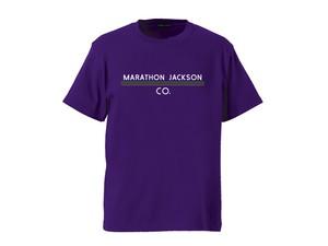 T-SHIRT M319102-PURPLE / Tシャツ パープル PURPLE  / MARATHON JACKSON マラソン ジャクソン