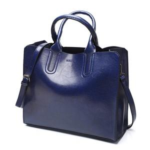レザーハンドバッグビッグ女性バッグ高品質カジュアル女性バッグトランクトートスペインブランドショルダーバッグ blue
