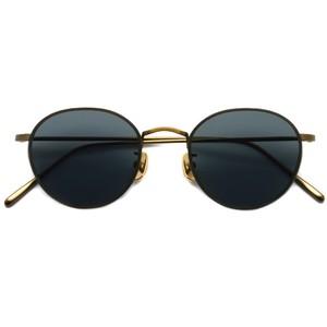 A.D.S.R. / BUKEM01(a) ブケム / Antique Gold - Black Lenses アンティークゴールド-ブラックレンズ(ダークグレー) ラウンドメタル ボストン サングラス