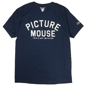 PICTURE MOUSE■not imitation Tsh(NAVY)