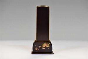 会津蒔絵位牌 四季の舞 (紫檀4.5寸)