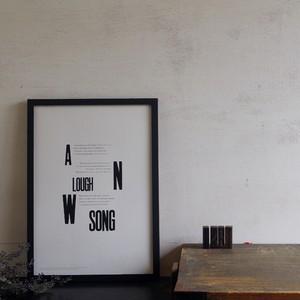 Lough Song   (活版印刷  木活字仕様 A3ポスター)