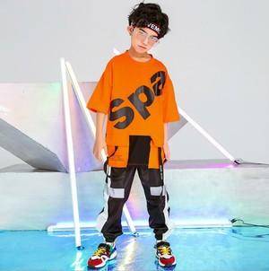 S5112子供上下セット2点 ヒップホップダンスウェア キッズ 女の子 トップス タンクトップ+ショートパンツ ダンス衣装 ジュニア 男の子 大人から子供まで 身長110-180cm