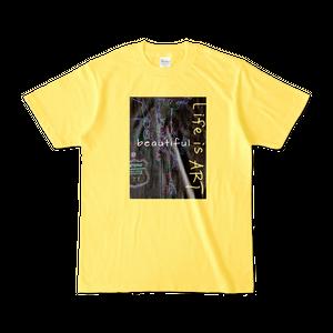 Tシャツ 【Life is art】イエロー