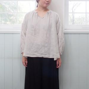 【fog linen work】 カリーナ ギャザートップ LWW962