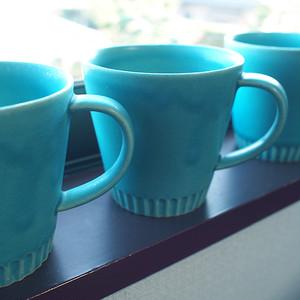 SAKUZAN / 作山 / ストライプマグカップ / 240ml / ターコイズ