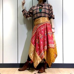 dsz-005 【新価格】シルクサリーギザスカート