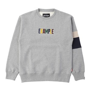 FROCKY MULTI COLOR LOGO SWEAT CREW NECK / GRAY