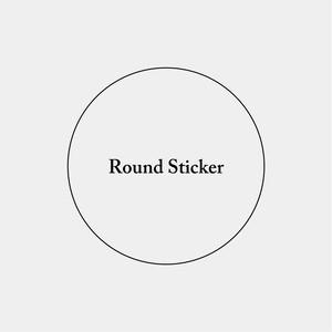 Round Sticker_円形ステッカー_50mm_200枚